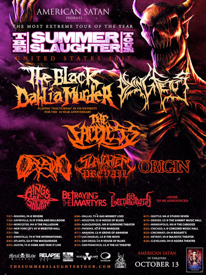 The Black Dahlia Murder NA Tour
