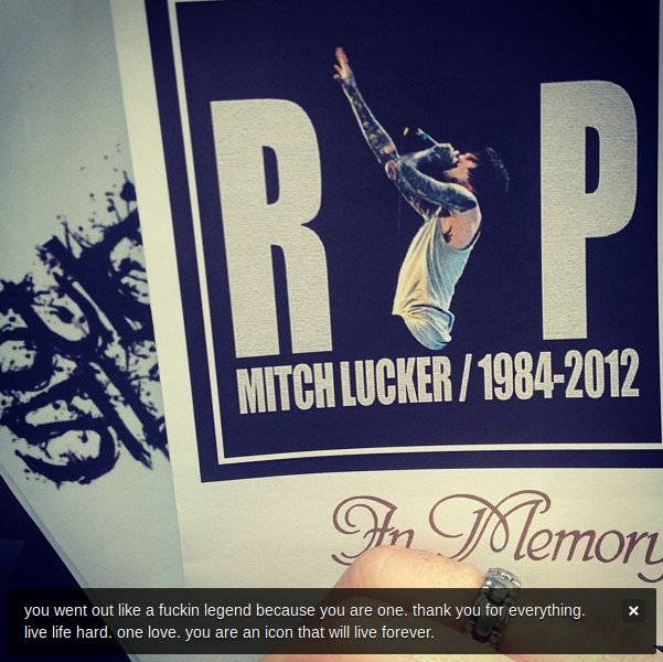Suicide silence mitch lucker funeral